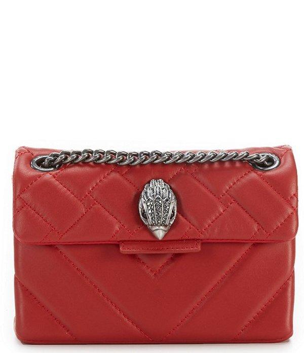 カートジェイガー レディース ショルダーバッグ バッグ Kensington Mini Quilted Leather Crossbody Bag Red