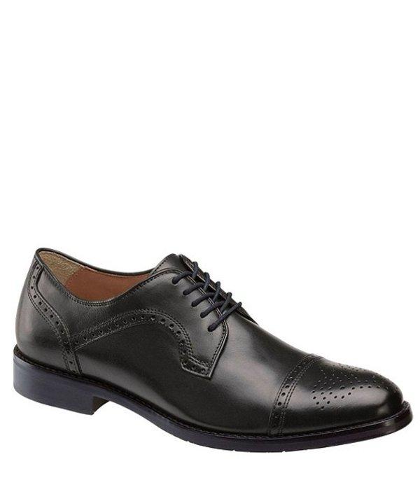 ジョンストンアンドマーフィー メンズ ドレスシューズ シューズ Men's Halford Cap Toe Oxford Black