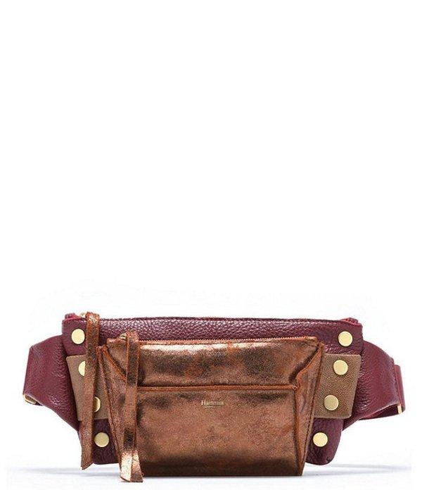ハミット レディース ショルダーバッグ バッグ Charles Metallic Leather Belt Bag Sierra
