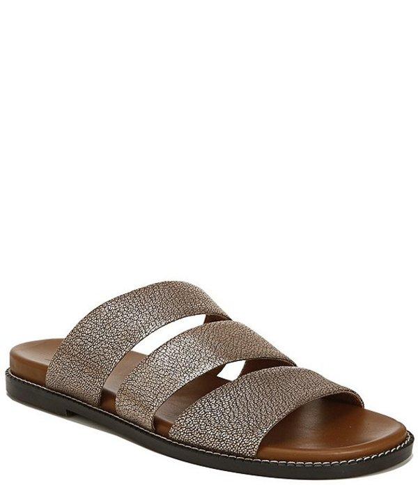 ナチュライザー レディース サンダル シューズ Kellie Triple Band Leather Slide Sandals Bronze