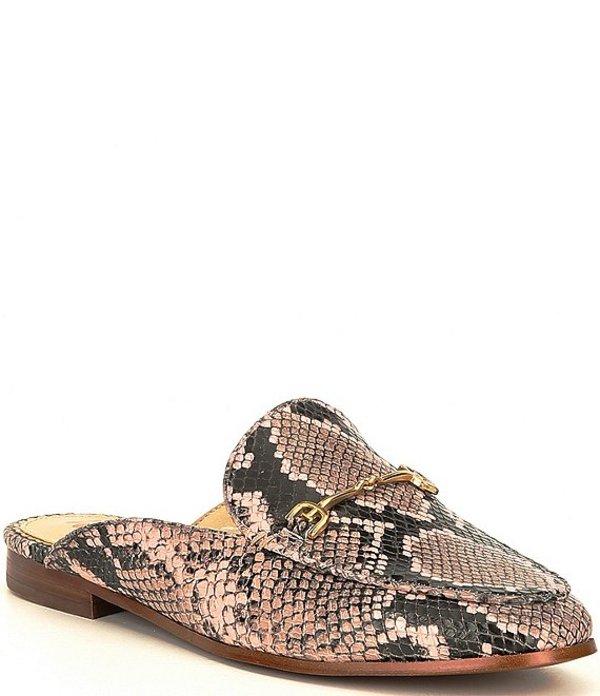 サムエデルマン レディース サンダル シューズ Linnie Snake Print Leather Mules Deco Pink