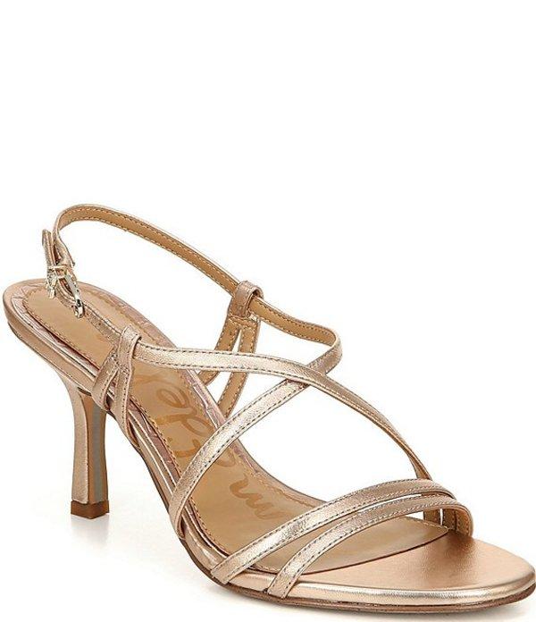 サムエデルマン レディース サンダル シューズ Paislee Leather Ankle Strap Dress Sandals Champagne