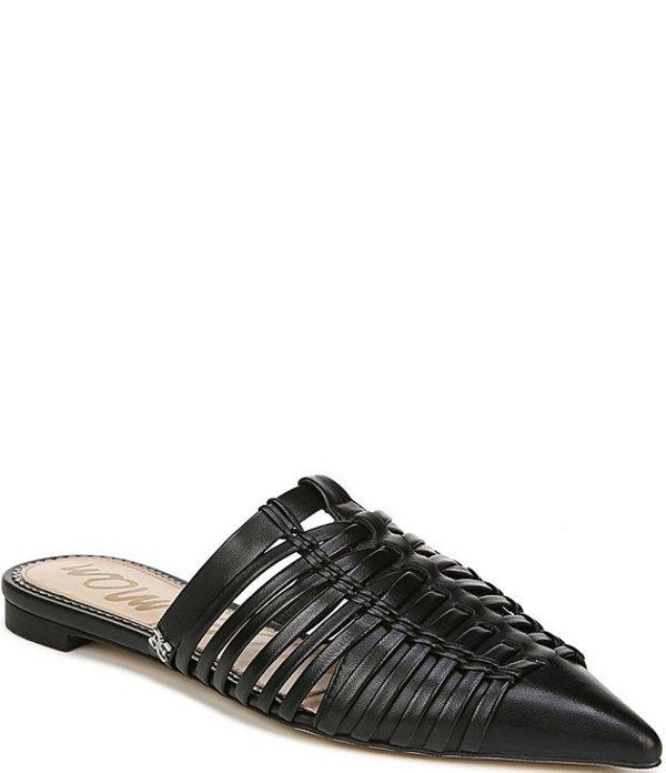 サムエデルマン レディース サンダル シューズ Shai Woven Leather Huarache Mules Black