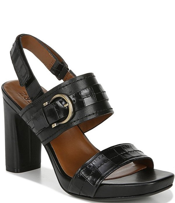 ナチュライザー レディース ブーツ・レインブーツ シューズ Joyce Leather Sling Back Dress Sandals Black