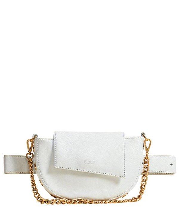 ハミット レディース ショルダーバッグ バッグ Neil Pebbled Leather Convertible Shoulder Belt Bag Ceramic White