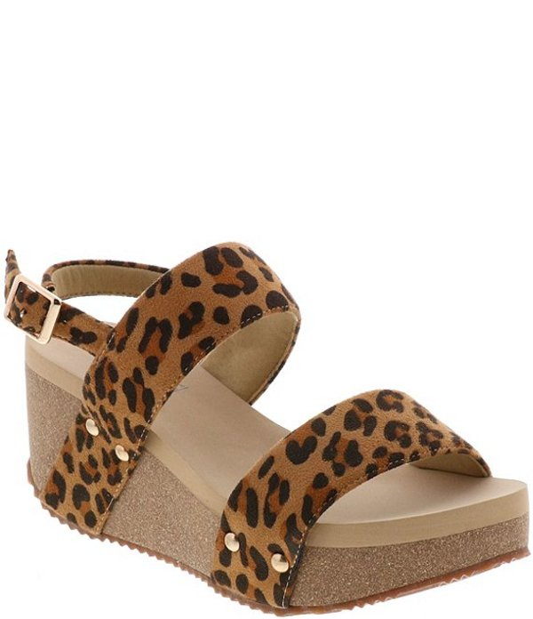 ボラティル レディース サンダル シューズ SummerLove Leopard Print Banded Wedge Sandals Tan/Leopard