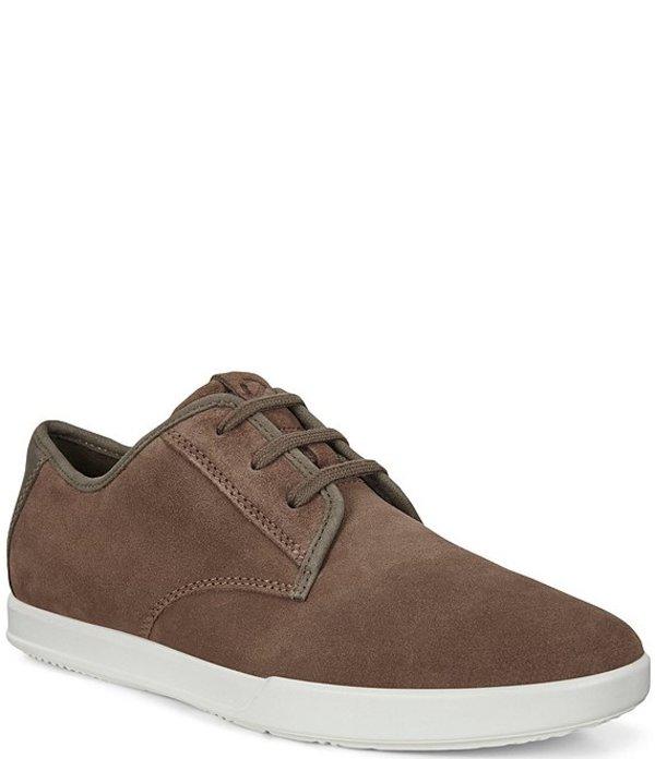 エコー メンズ ドレスシューズ シューズ Men's Collin 2.0 Suede Simple Sneakers Dark Clay/Dark Clay