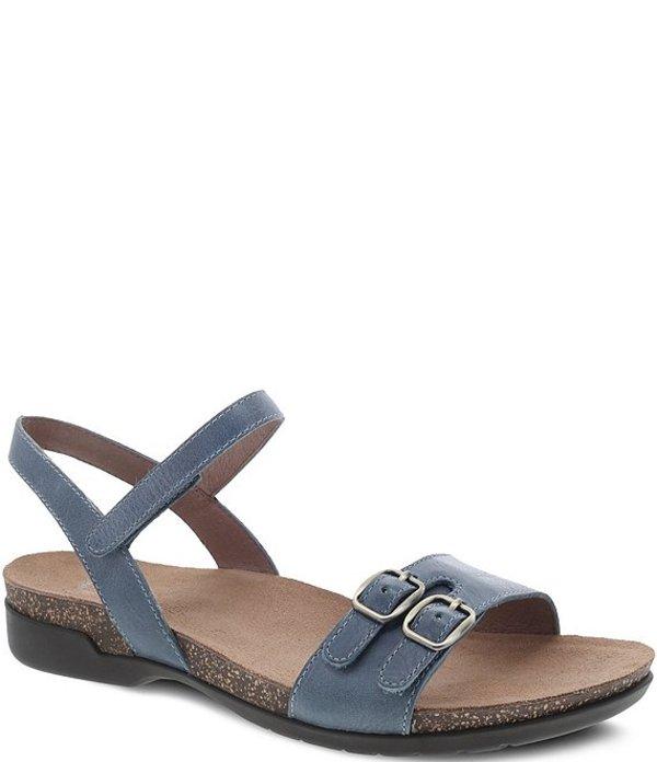 ダンスコ レディース サンダル シューズ Rebekah Leather Banded Buckle Detail Sandals Denim Waxy Calf