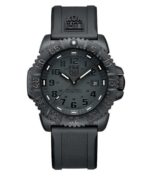 ルミノックス メンズ 腕時計 アクセサリー Blackout Navy Seal ColorMark Watch Black