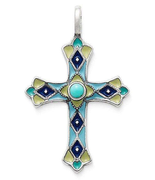 ジェームズ エイヴリー レディース ネックレス・チョーカー アクセサリー Enamel Byzantine Cross Pendant with Turquoise Silver/Turquoise