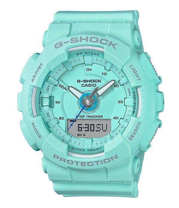 ジーショック レディース 腕時計 アクセサリー Ana-Digi Resin Step-Tracking Watch Baby Blue