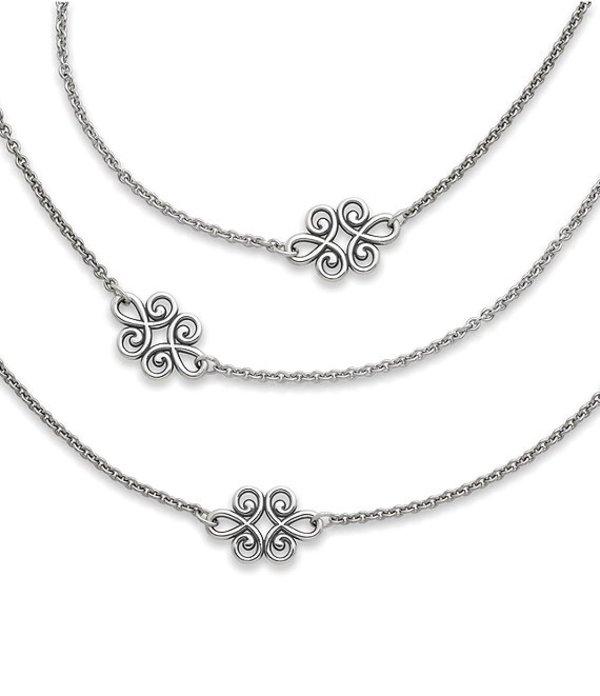 ジェームズ エイヴリー レディース ネックレス・チョーカー アクセサリー Linked Swirls Necklace Sterling Silver