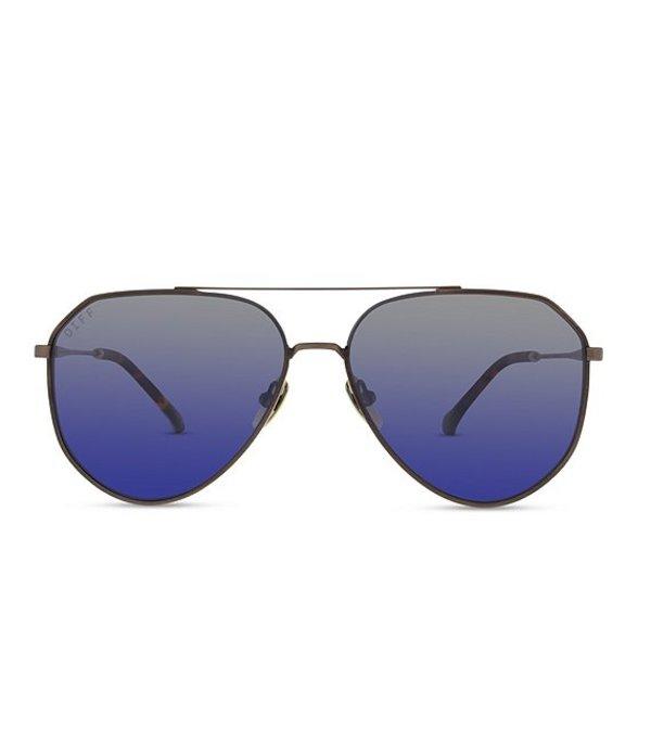 ディフアイウェア レディース サングラス・アイウェア アクセサリー Dash Polarized Aviator Sunglasses Brown/Blue