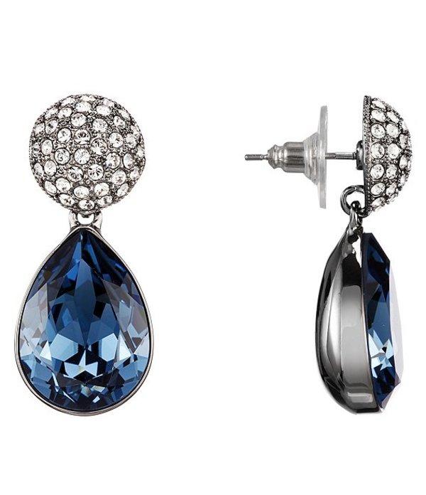 ニナ レディース ピアス・イヤリング アクセサリー Pave Medium Pear Earrings Denim