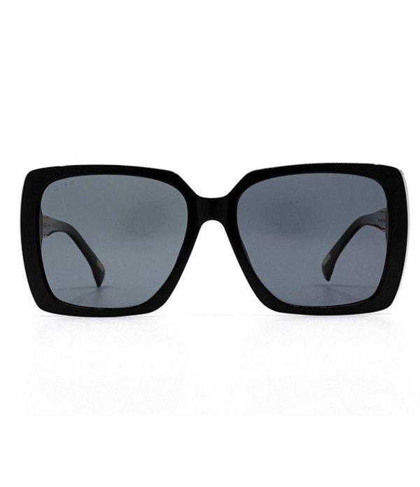 ディフアイウェア レディース サングラス・アイウェア アクセサリー Oversized Square Sunglasses Black