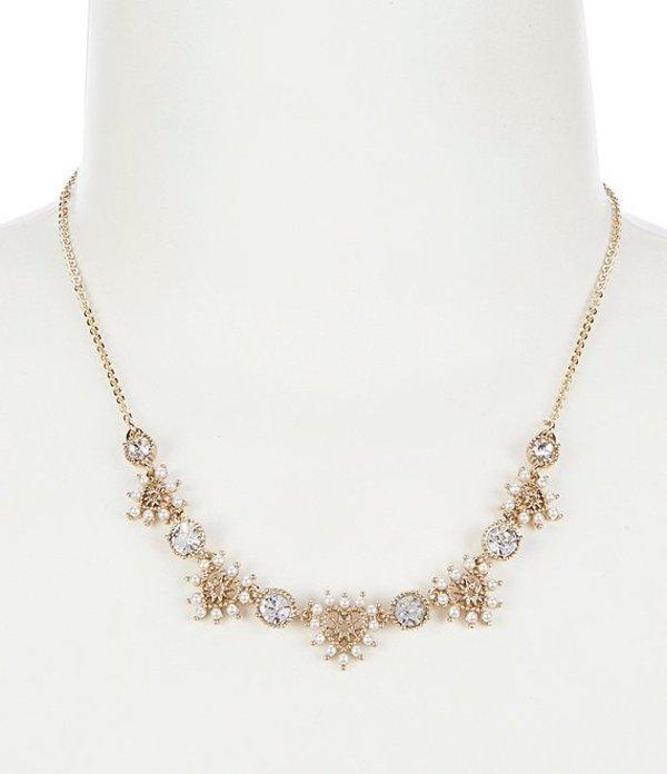 マルケッサ レディース ネックレス・チョーカー アクセサリー White Heart Frontal Necklace Gold