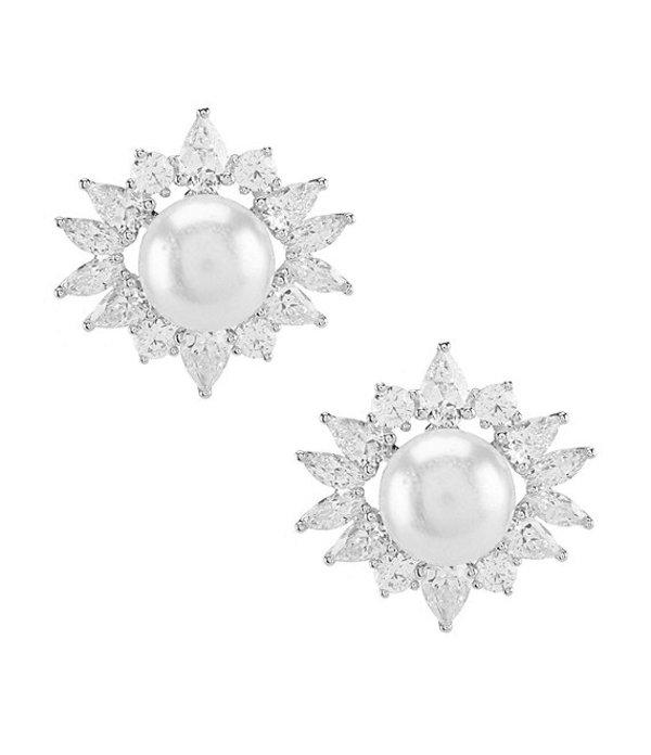 ナディール レディース ピアス・イヤリング アクセサリー Nectar Framed Clip Earrings Rhodium