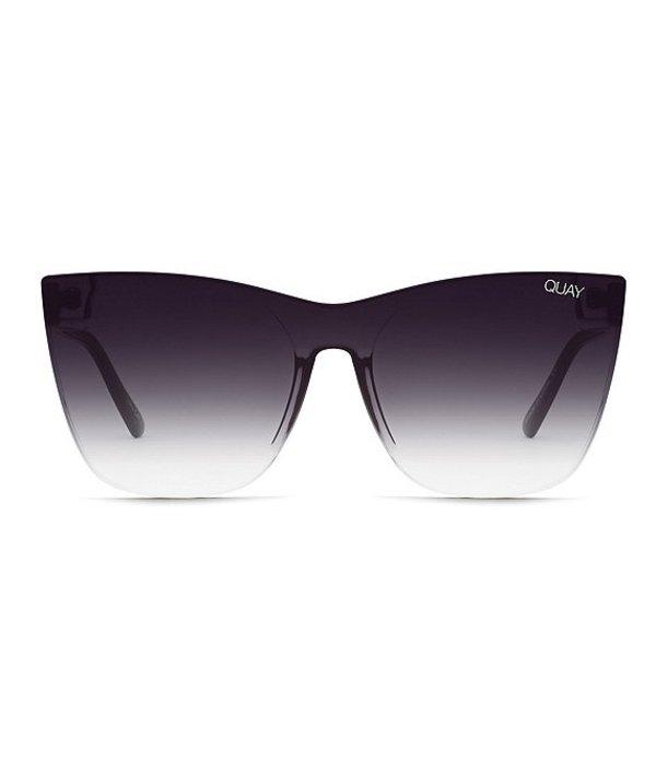 クアイオーストラリア レディース サングラス・アイウェア アクセサリー Come Thru Cat Eye Sunglasses Black Fade