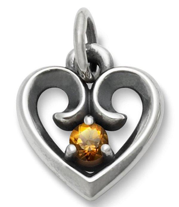 ジェームズ エイヴリー レディース ネックレス・チョーカー アクセサリー Avery Remembrance Heart Pendant with Citrine Sterling Citrine