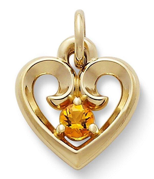 ジェームズ エイヴリー レディース ネックレス・チョーカー アクセサリー Remembrance Heart Pendant with Citrine Citrine/Gold