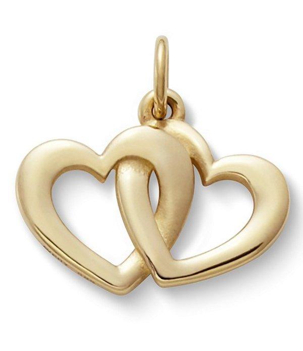 ジェームズ エイヴリー レディース ネックレス・チョーカー アクセサリー Jewelry 14K Gold Linked Hearts Charm Gold