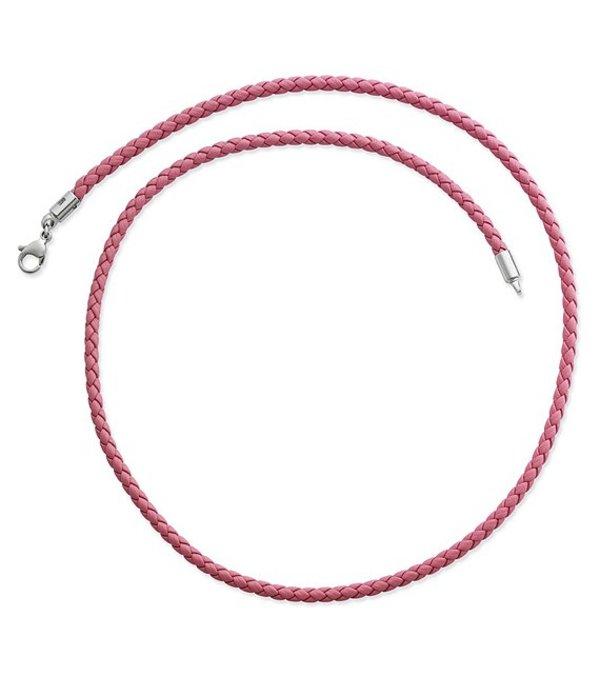 ジェームズ エイヴリー レディース ネックレス・チョーカー アクセサリー Braided Pink Leather Necklace Pink