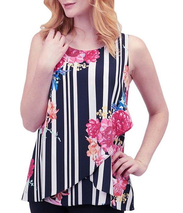 ピーター ナイガード レディース シャツ トップス Woven Floral Stripe Layered Hem Sleeveless Top Navy/Stripe/Floral