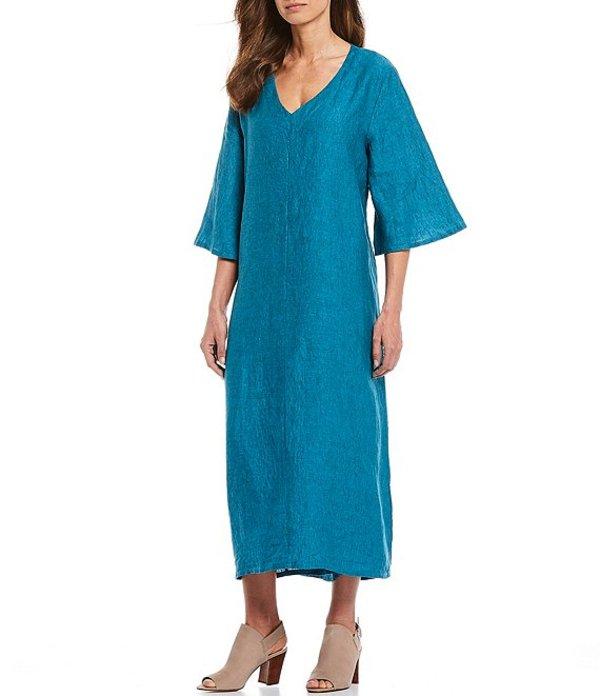 ブライン ウォーカー レディース ワンピース トップス Liliana Cross Dyed 3/4 Sleeve Linen Shift Dress Napoli