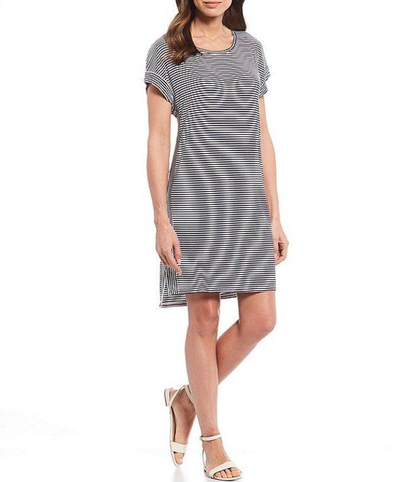トッミーバハマ レディース ワンピース トップス Cassia Stripe Short Sleeve T-Shirt Dress Black