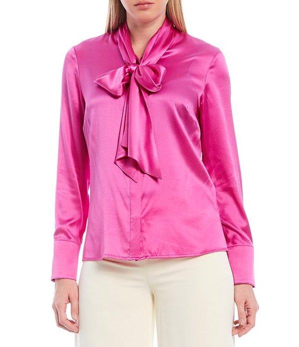 ジュリーブラウン レディース シャツ トップス Valentine Tie Neck Long Sleeve Silk Blend Button Front Blouse Jasmine