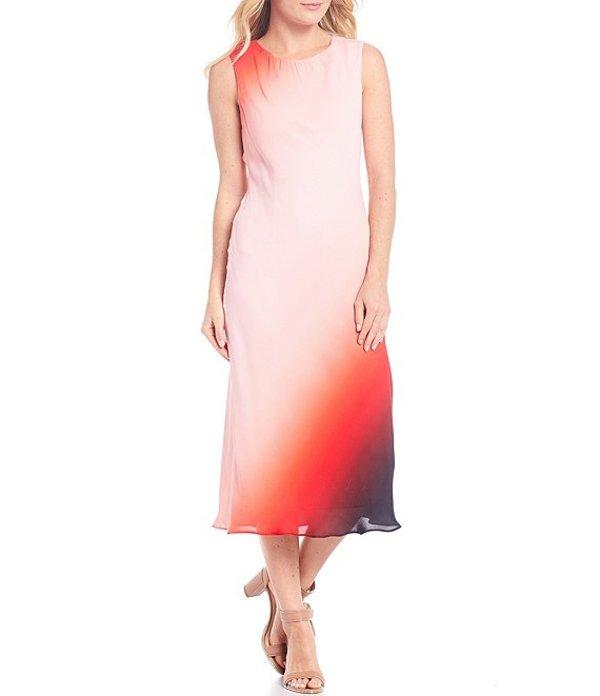 ダナキャラン レディース ワンピース トップス New York Gradient Ombre Midi Shift Dress Poppy Ombre