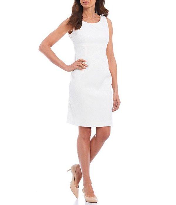 カスパール レディース ワンピース トップス Petite Size Textured Jacquard Empire Seamed Sheath Dress Vanilla Ice