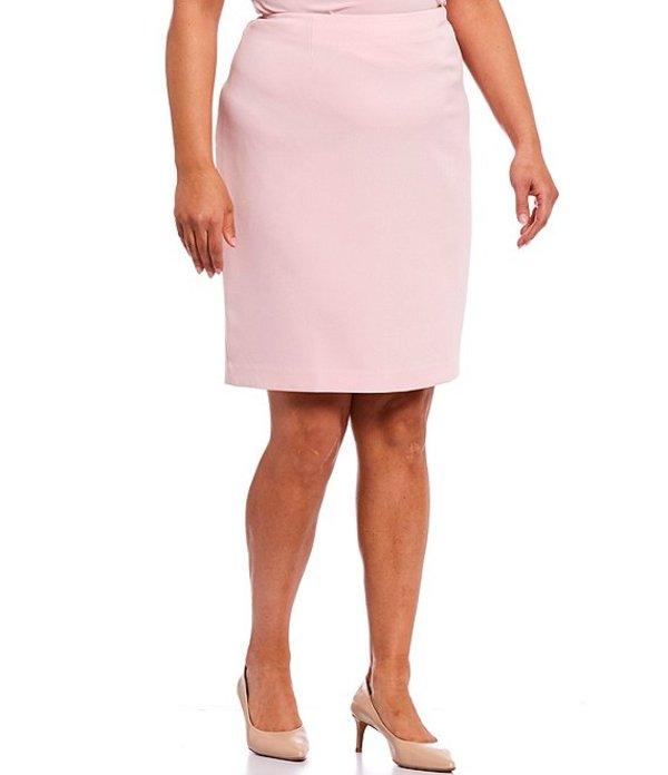 カスパール レディース スカート ボトムス Plus Size Stretch Crepe Pencil Skirt Tutu Pink