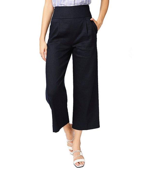 コート&ロー レディース カジュアルパンツ ボトムス Linen Blend High Rise Wide Leg Crop Pant Blue Night