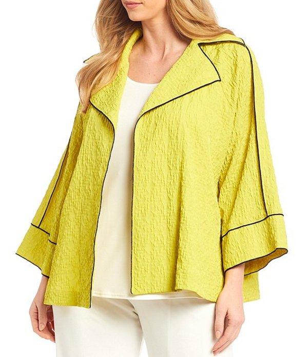 アイシーコレクション レディース ジャケット・ブルゾン アウター Plus Size 3/4 Raglan Sleeve Contrast Trim Merrow Jacket Lime