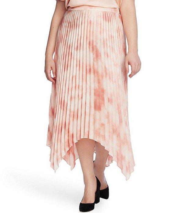 ヴィンスカムート レディース スカート ボトムス Plus Size Pleated Tie Dye Asymmetrical Midi Skirt Tuberose