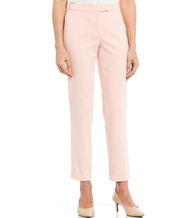 アンクライン レディース デニムパンツ ボトムス Cotton Double Weave Slim Straight Leg Pant Cherry Blossom
