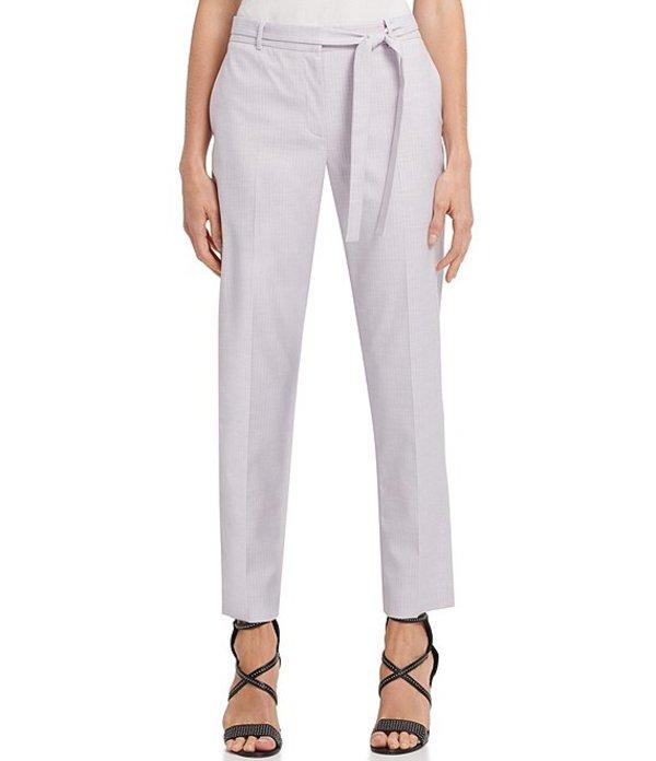 ダナ キャラン ニューヨーク レディース カジュアルパンツ ボトムス Striped Essex Ankle Pant With Tie Belt Lava