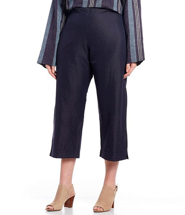 ブライン ウォーカー レディース カジュアルパンツ ボトムス Plus Size Stretch Linen Pull-On Capri Pant Navy