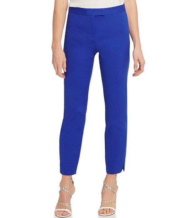ダナキャラン レディース カジュアルパンツ ボトムス DKNY Stretch Double Weave Cotton Blend Woven Slim Leg Ankle Pants Electric Blue