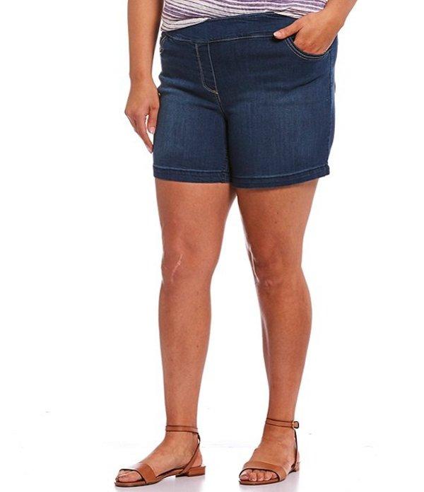 ウエストバウンド レディース ハーフパンツ・ショーツ ボトムス Plus Size the PARK AVE fit Pull-On Shorts Blue Indigo