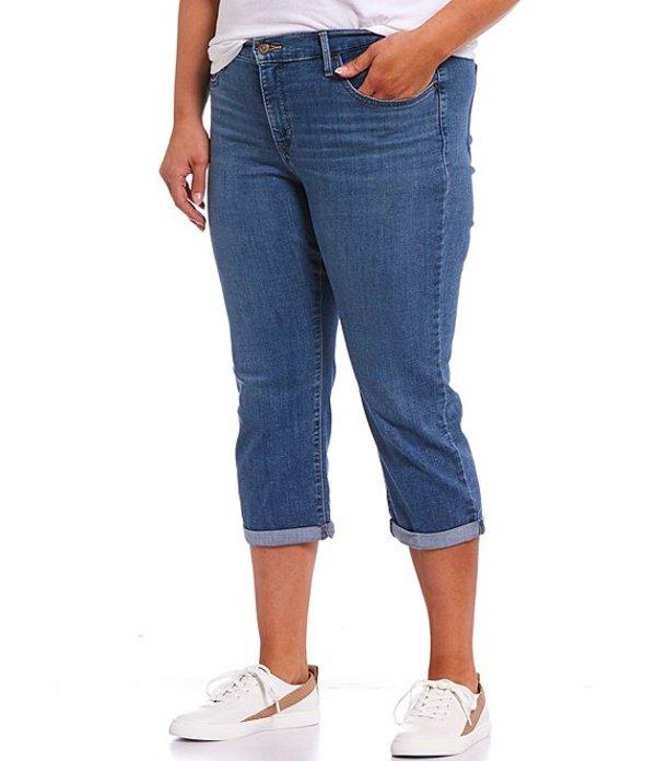 リーバイス レディース カジュアルパンツ ボトムス Levi'sR Plus Size Shaping Rolled Hem Capri Jeans Maui Sail Splash