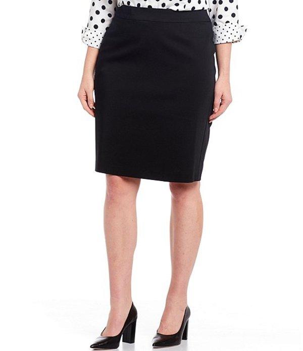 インベストメンツ レディース スカート ボトムス Plus Size Elite Stretch Back Zip Pencil Skirt Black