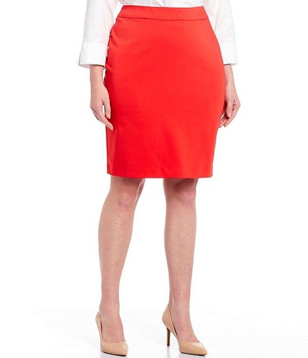 インベストメンツ レディース スカート ボトムス Plus Size Elite Stretch Back Zip Pencil Skirt Poppy Red