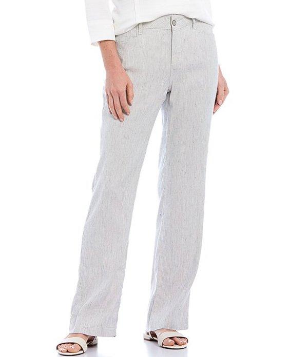エヌワイディージェイ レディース カジュアルパンツ ボトムス Slubby Stripe Stretch Linen-Blend Wide Leg Trouser Pants Slubby Stripe