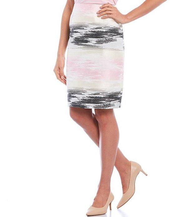 カスパール レディース スカート ボトムス Ombre Jacquard Cotton Blend Pencil Skirt Tutu Pink Multi