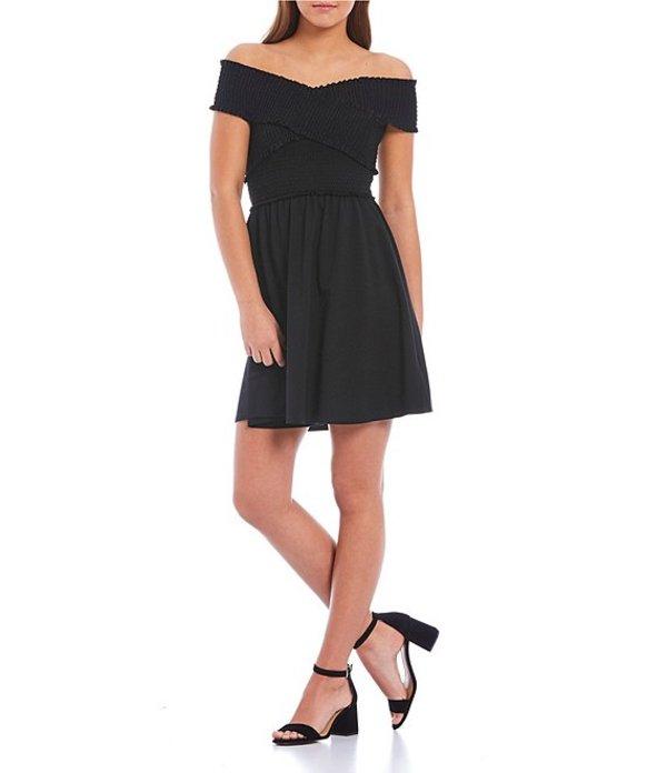 ジービー レディース ワンピース トップス Smocked Bodice Dress Black