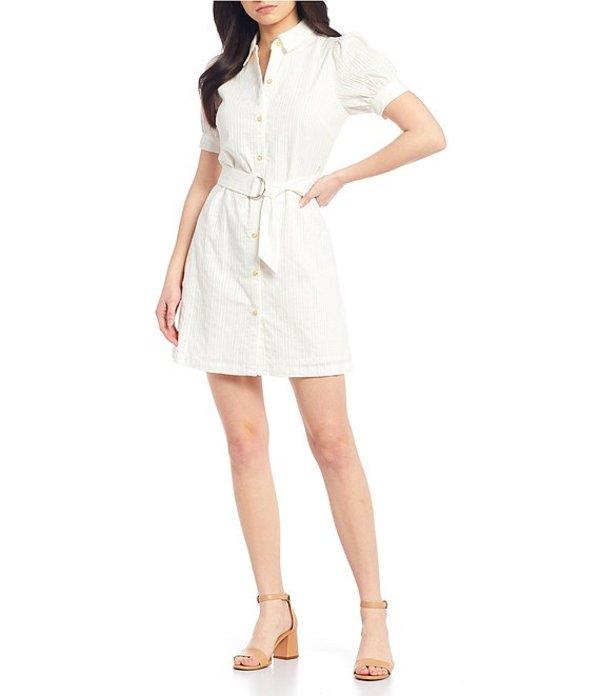 ジービー レディース ワンピース トップス Puff Sleeve Dress White