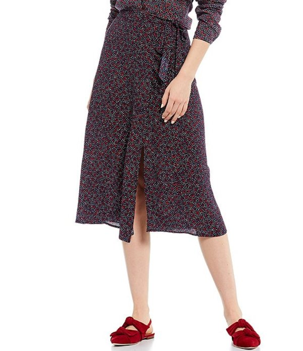 ジュールズ レディース スカート ボトムス Alyssa Dotty Heart Print A-Line Front Slit Woven Midi Skirt Dotty Heart