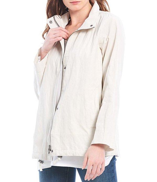 エイリーンフィッシャー レディース ジャケット・ブルゾン アウター Organic Cotton Steel Stand Collar A-Line Zip Front Jacket Bone
